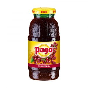 Pago cranberry juice,