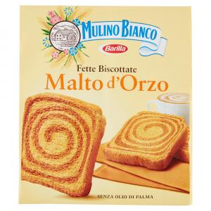 Fette biscottate Malto d'Orzo, Mulino Bianco, barilla,senza olio di palma, palm oil free